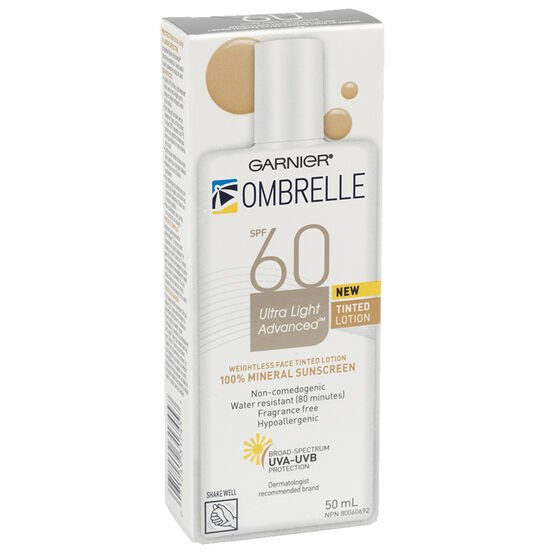 Ombrelle Ultra Light Advanced Tinted Face Lotion - SPF60 - 50ml
