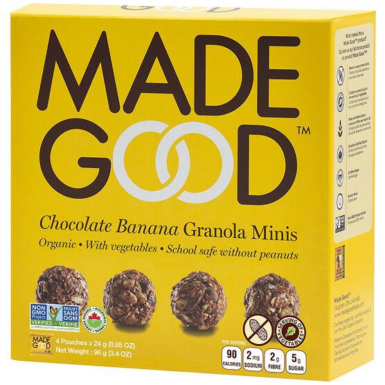 Made Good Granola Minis - Chocolate Banana - 4 x 24g