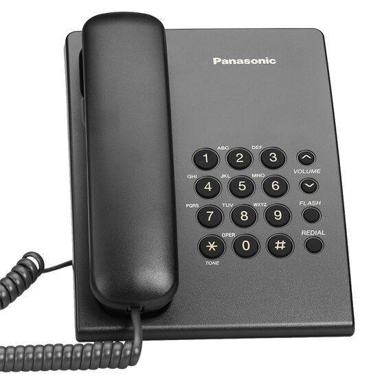 Panasonic Corded Telephone - Black - KXTS500B
