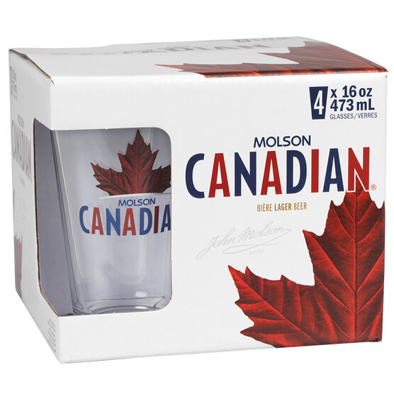 Molson Canadian Glasses - Clear - 4's