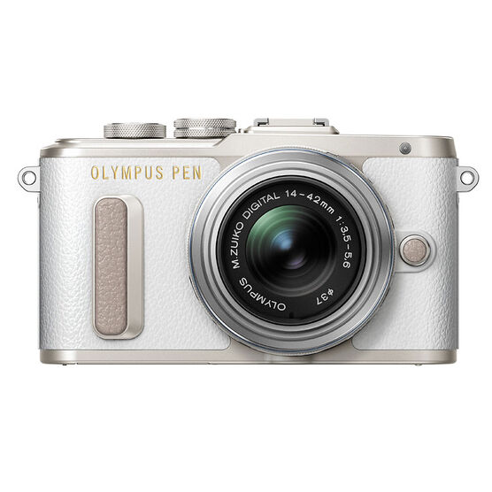 Olympus PEN E-PL8 with 14-42mm IIR Silver Lens - White - V205081WU000
