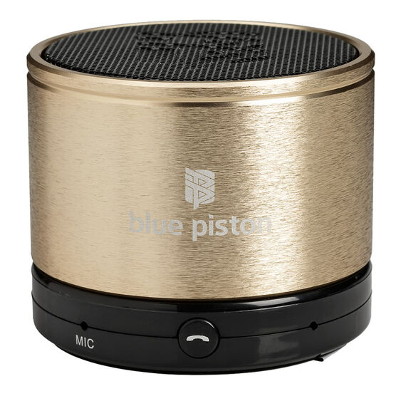Logiix Bluepiston Bluetooth Speaker - Gold - LGX10859
