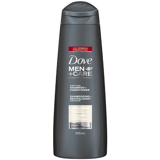 Dove Men+Care Fortifying Shampoo & Conditioner - Complete Care - 355ml