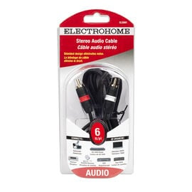 Electrohome 6-ft Shielded Stereo Cable 2 RCA to 2 RCA - ELS561