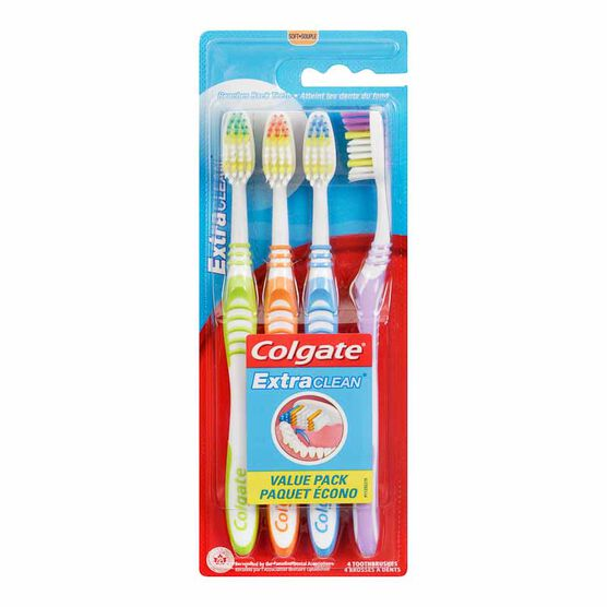 Colgate Extra Clean Soft Toothbrush - 4 pack
