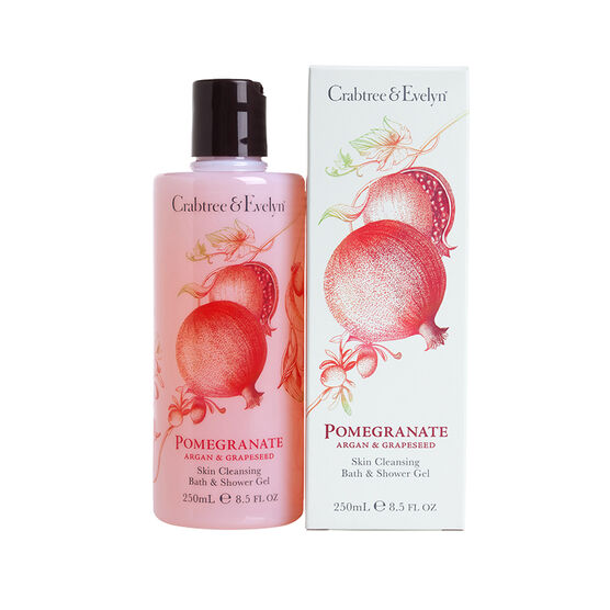 Crabtree & Evelyn Pomegranate, Argan & Grapeseed Skin Cleansing Bath and Shower Gel - 250ml
