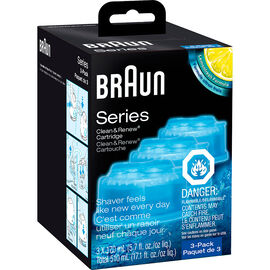 Braun Clean & Charge Refills - 3 pack