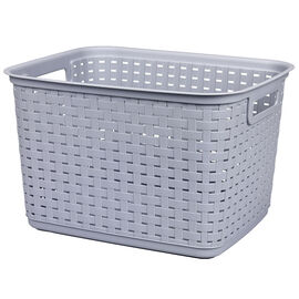 Sterilite Tall Weave Basket - Cement
