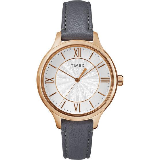 Timex Main Street Watch - Grey/Rose Gold - TW2R27700GP