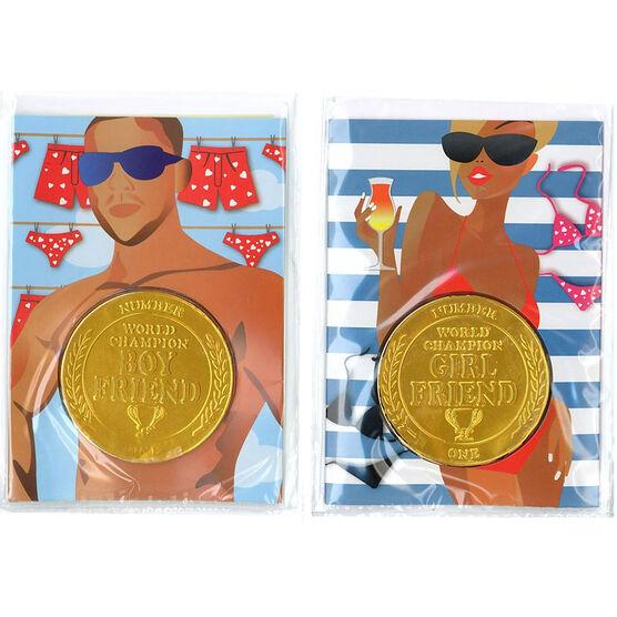Boyfriend/Girlfriend Medallion - Assorted - 20g
