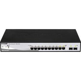 D-Link 10-Port PoE Gigabit WebSmart Switch including 2 Gigabit Combo SFP - DGS-1210-10P