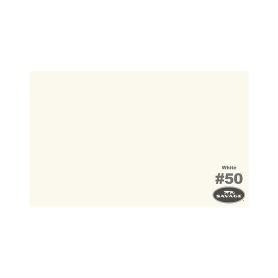 "Savage 53"" Widetone Seamless Background Paper - White - SAS50-1253"