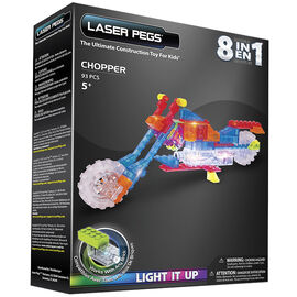Laser Pegs 8 in 1 Motorcycle - Chopper