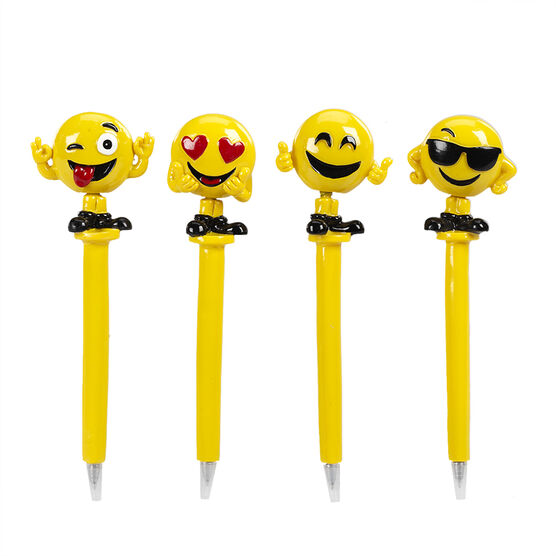 Hand Painted Bobblehead Emoji Pen 1 - Assorted