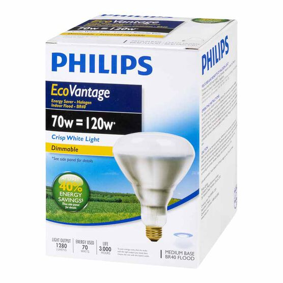 Philips 70W BR40 Ecovantage Light Bulb - Flood - 1 pack