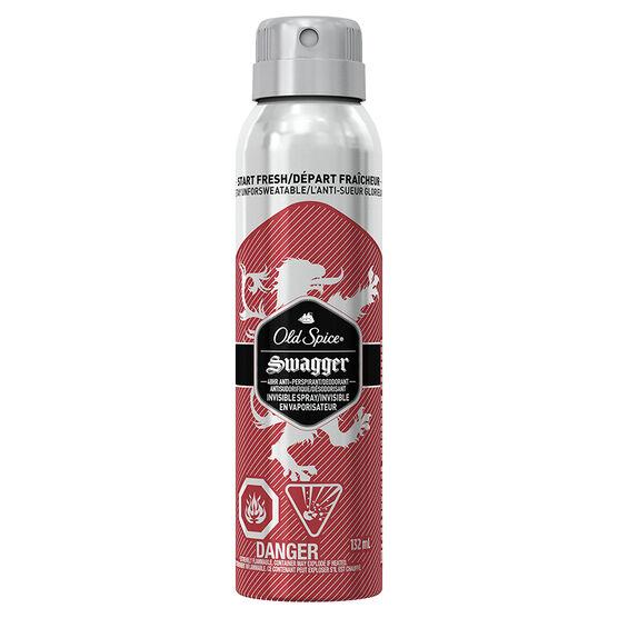 Old Spice Invisible Spray Anti-Perspirant & Deodorant - Swagger - 132ml