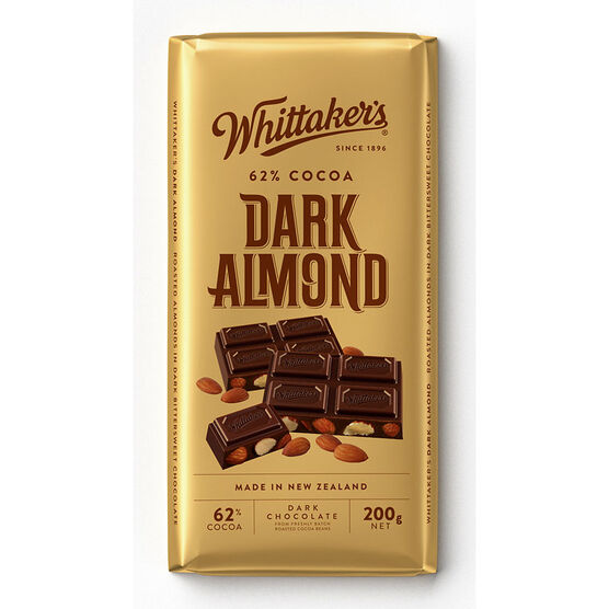 Whittaker's Dark Chocolate - Almond - 200g