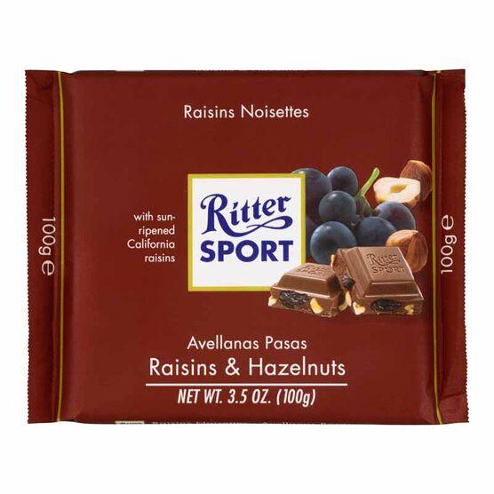 Ritter Sport - Raisins and Hazelnuts - 100g