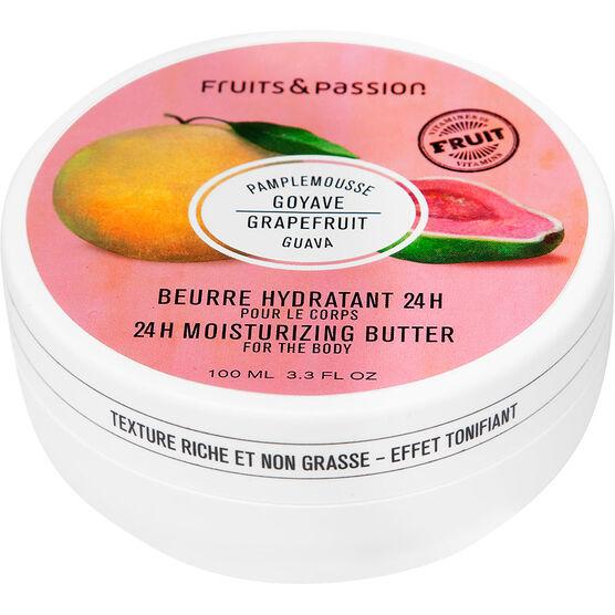 Fruit & Passion 24H Moisturizing Body Butter - Grapefruit Guava - 200ml