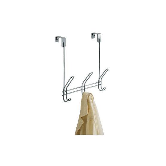 InterDesign Classico Over The Door Rack - Steel - 3 Hook
