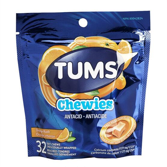 Tums Chewies - Orange Rush - 32's