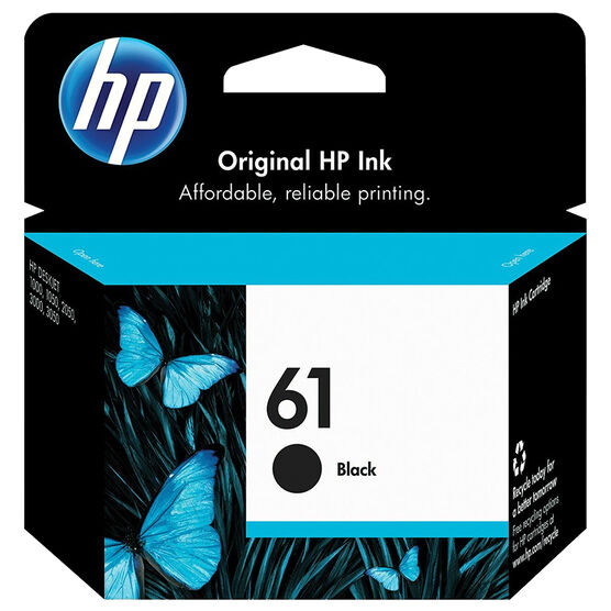 HP #61 Ink Cartridge - Black - CH561WN#140