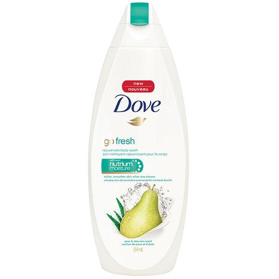 Dove Go Fresh Rejuvenate Body Wash - Pear & Aloe Vera - 354ml