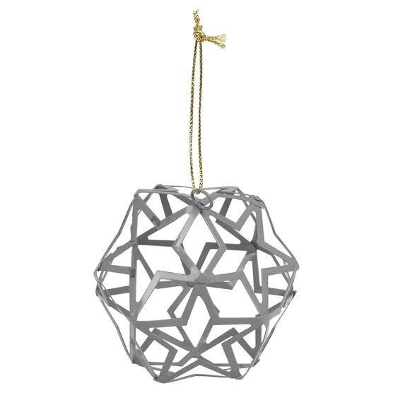 Christmas Cut Out Ball Ornament - Grey - 8cm