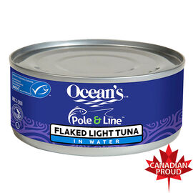 Ocean's Pole & Line Flaked Light Tuna in Water - 170g