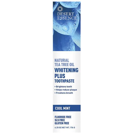 Desert Essence Tea Tree Oil Whitening Plus Toothpaste - Cool Mint - 176g