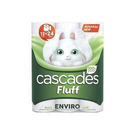 Cascades Fluff Enviro Double Roll Bathroom Tissue - 12's