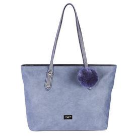 David Jones Satchel Bag with Pom Pom - Assorted