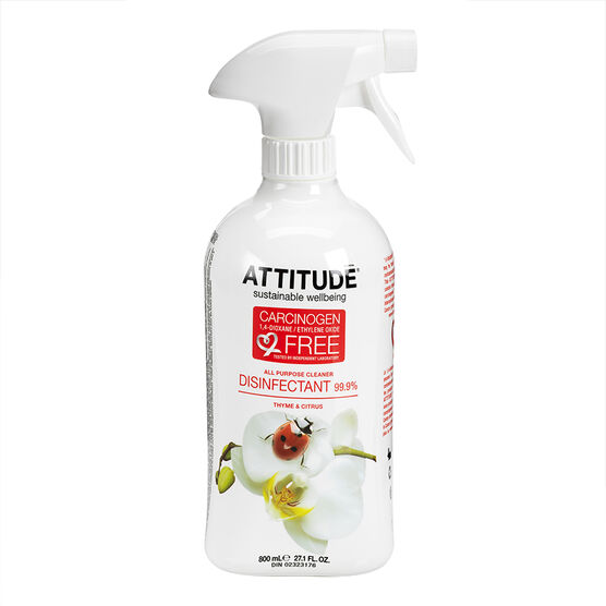 Attitude All Purpose Eco Cleaner Disinfectant - 800ml