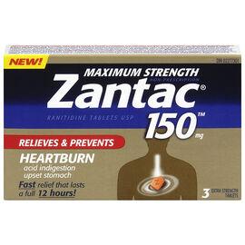 Zantac 150 Maximum Strength - 3's