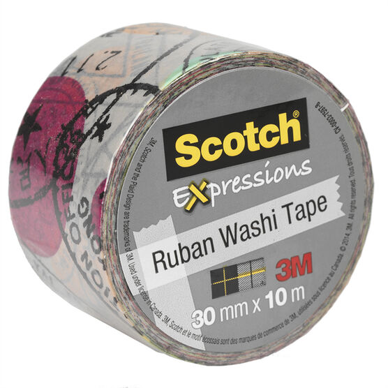 3M Scotch Expressions Wide Washi Tape - Travel