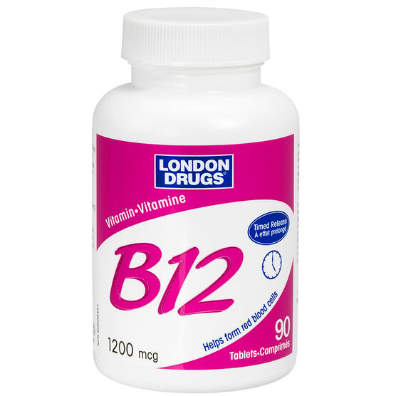 London Drugs Vitamin B-12 1200mcg Timed Release Tablets - 90's