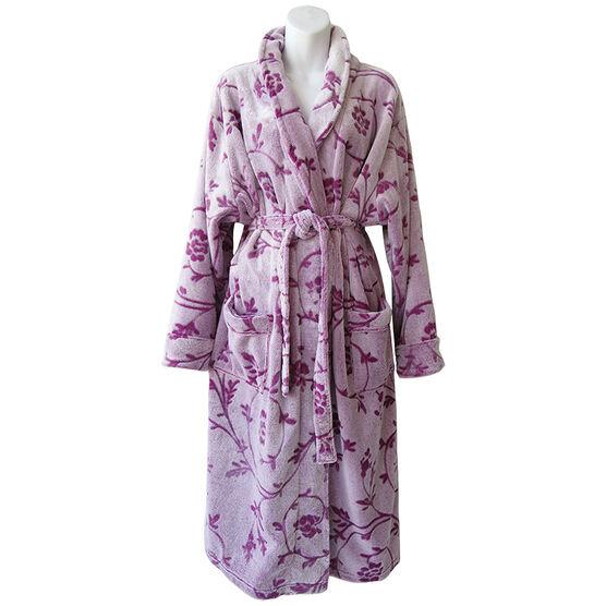 Sandra & Tiffany Polar Fleece Robe - Lilac