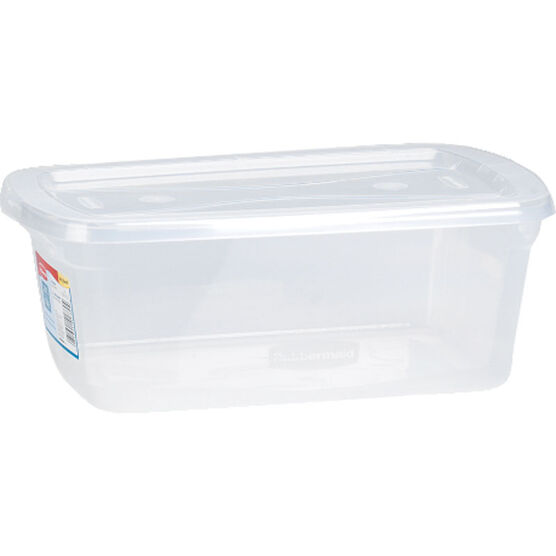 Rubbermaid Clever Store Basic Non-Latching Box - Clear - 5.6L