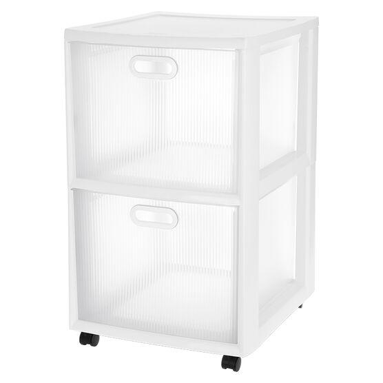 Sterilite Ultra 2 Drawer Cart - White