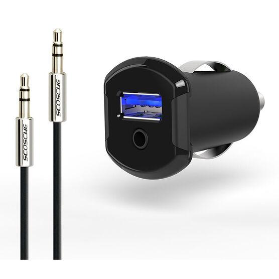 Scosche AUX-In Audio Converter - Black - SC-USBCAi