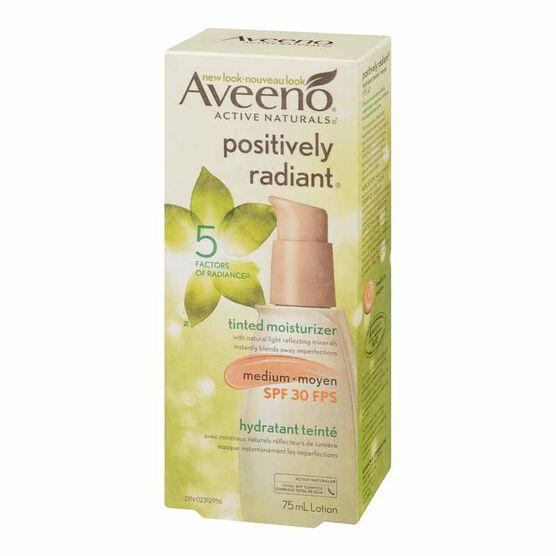 Aveeno Positively Radiant Tinted Moisturizer - SPF 30 - Medium - 75ml