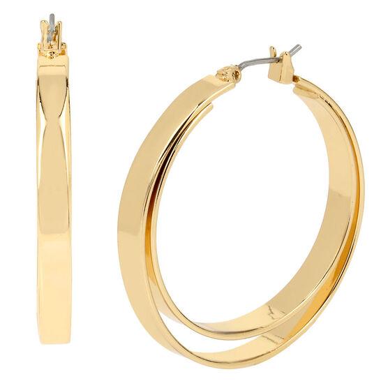 Kenneth Cole Double Hoop Earrings - Gold