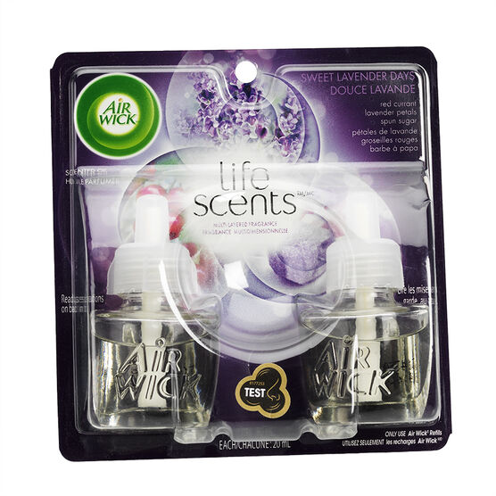 Airwick Life Scents Scented Oil Refill - Sweet Lavender Days - 2 x 20ml