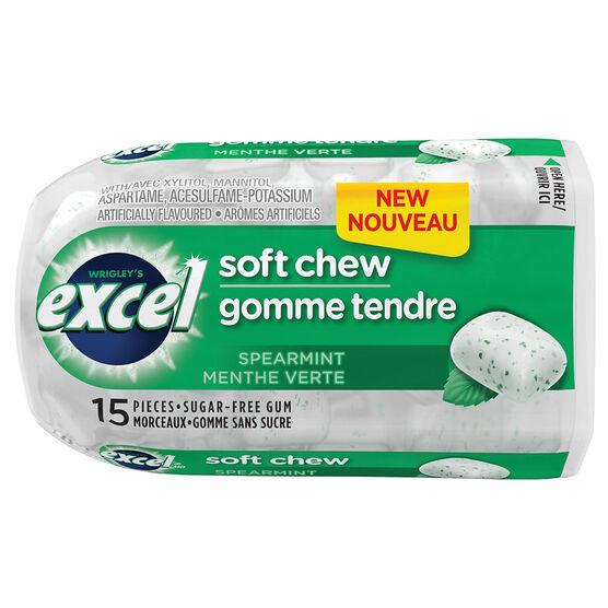 Excel Soft Chew Gum - Spearmint - 15 piece