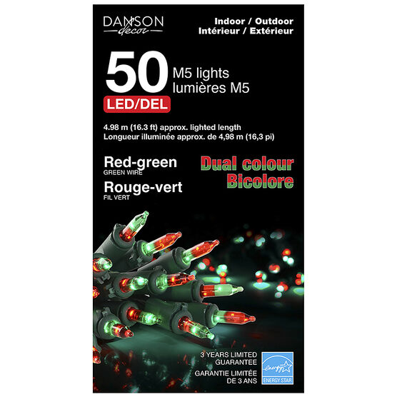 Danson Outdoor Dual Lens Lights - Red/Green - 50's