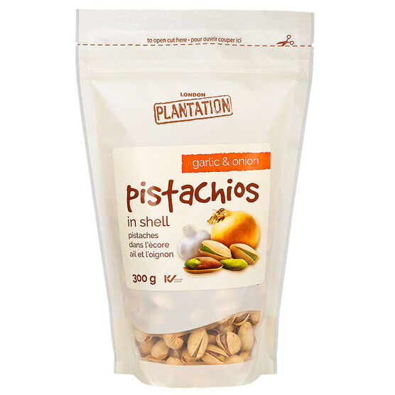 London Plantation Pistachios - Garlic - 300g