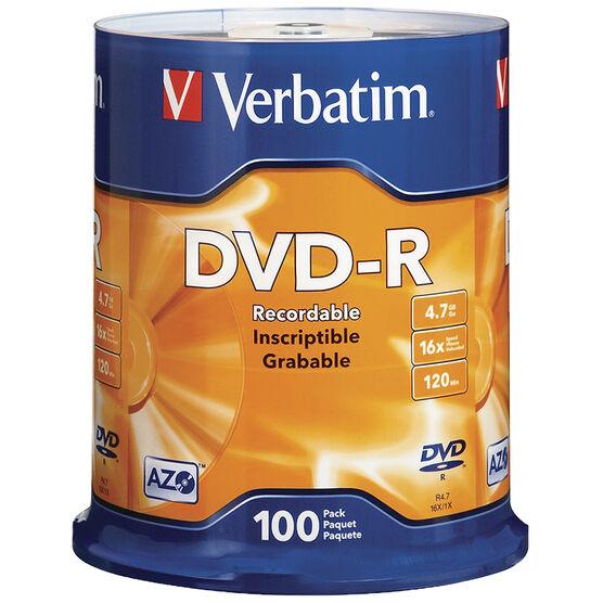 Verbatim DVD-R 16X 4.7 GB - 100 Pack