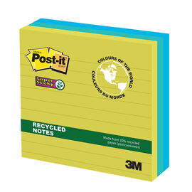 3M Post-It Super Sticky Recycled Notes - 3 pads