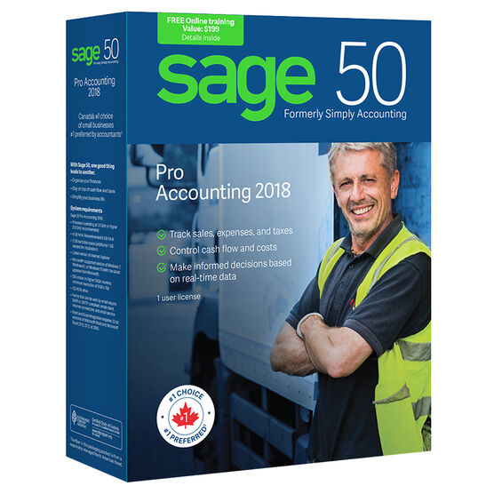 Sage 50 Pro Accounting: Canadian Edition - 2018 - CPRO2018RT