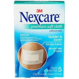 3M Nexcare Premium Soft Cloth Adhesive Pads - 5's